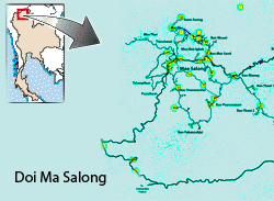 Doi Mae Salong Map